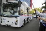 Transjakarta Uji Coba Dua Bus Listrik Rute Balai Kota - Blok M