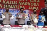 Polisi Gagalkan Ratusan Kilogram Sabu dan Ganja Jaringan Sumatera-Jawa