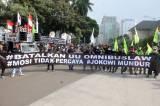 Mahasiswa dan Buruh di Jakarta Kembali Gelar Aksi Tolak Omnibus Law