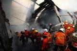 Gudang Mebel di Surabaya Hangus Terbakar