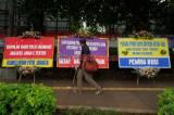 Dukung Tindak Pelanggar Covid-19, Karangan Bunga Juga Banjiri Polda Metro Jaya