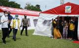 Pastikan Bantuan Logistik Terpenuhi, Jokowi Sambangi Posko Pengungsian Gempa Majene di Stadion Manakarra Mamuju