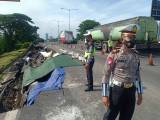 Jalan Tol Surabaya-Gempol KM 6 Ambles, Polisi Tutup Satu Lajur Arah Dupak Menuju Waru