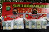 Polresta Bandara Soekarno-Hatta Bekuk Komplotan Pengedar Dolar AS Palsu