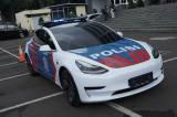 Korlantas Polri Terima Hibah Mobil Tesla dari IMI untuk Patroli Lalin