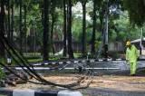 Pohon dan Tiang Listrik Ambruk Akibat Hujan Deras di Hang Tuah Raya