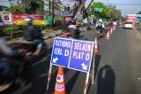 Pemberlakuan Larangan Mudik di Perbatasan Kota Bandung