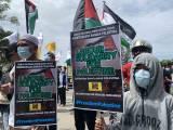 Ratusan Buruh Bekasi Gelar Aksi Bela Palestina