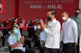Jokowi Tinjau Pelaksanaan Vaksinasi Gotong Royong di Cikarang