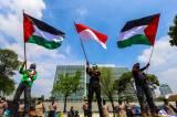 Bela Palestina, Buruh Gelar Aksi di Kedubes AS