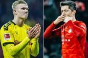 Der Klassiker di Tengah Pandemi Duel Haaland vs Lewandowski