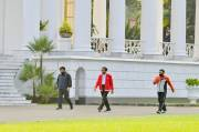 Berolahraga di Istana Bogor, Jokowi Ajak Masyarakat Jaga Kesehatan