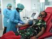 Sembuh dari Covid, 32 Perwira Secapa Donorkan Plasma Darah di RSPAD