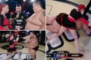 Gokil! Petarung MMA Wanita Ini Robohkan Pria 235 Kg KO Ronde 1!