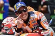 Finis di Belakang Lorenzo dan Rossi, Salah Satu Balapan Terbaik Marquez di MotoGP