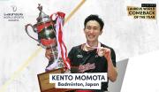 Kento Momota Pebulu Tangkis Pertama yang Masuk Nominasi Laureus Award
