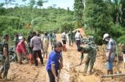 TMMD 111 di Daerah Perbatasan, TNI Hidupkan Suasana Desa yang Terisolir
