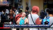 Abaikan Jaga Jarak, Pemohon SKCK Padati Halaman Mapolres Cirebon
