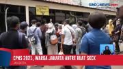 Ratusan Warga Antre Membuat SKCK di Mapolres Jakarta Selatan