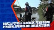 Dirazia Petugas Gabungan, Penjudi dan Pengguna Narkoba Melompat ke Sungai
