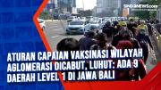 Aturan Capaian Vaksinasi Wilayah Aglomerasi Dicabut, Luhut: Ada 9 Daerah Level 1 di Jawa Bali