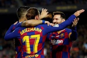 Sempurnakan Taktik Baru, Lini Depan Barcelona Makin Mematikan