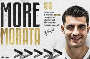 Resmi, Juventus Angkut Alvaro Morata dari Atletico