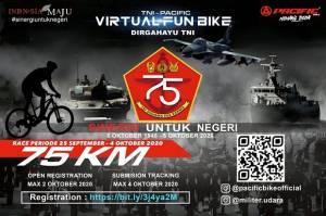 Sambut HUT ke-75, TNI Gelar Lomba Bersepeda Virtual