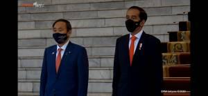 Presiden Jokowi Bertemu PM Jepang Yoshihide Suga di Istana Bogor