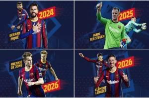 Mengejutkan, Barcelona Perpanjang Kontrak Empat Pemain Sekaligus