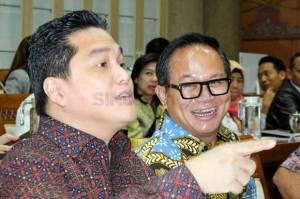 Erick Thohir Sanjung Tim Holding Perasuransian di Hadapan Komisi VI
