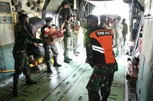 Pesawat Hercules TNI AU Angkut 12 Ton Bantuan ke Mamuju dan Majene
