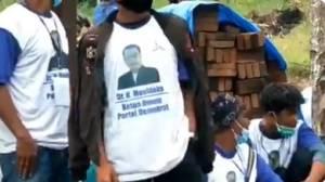 KLB Demokrat Kontra AHY Belum Dimulai, Foto Moeldoko Sudah Terpampang di Kaus