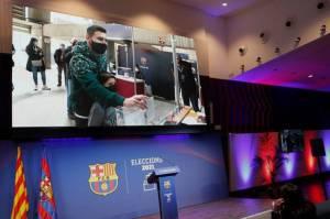 Pidato Kemenangan Laporta Singgung Lionel Messi
