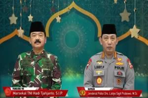 Panglima TNI dan Kapolri Kompak Ucapkan Selamat Ramadhan 1442 H