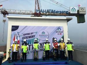 Perumnas Gelar Topping Off Tower Cattleya Samesta Mahata Serpong