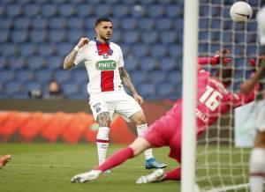 Hat-trick Mauro Icardi Bawa PSG ke Semifinal Piala Prancis