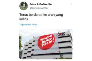 Zainal Arifin Unggah Foto Gedung KPK Diselimuti Spanduk Berani Jujur Pecat