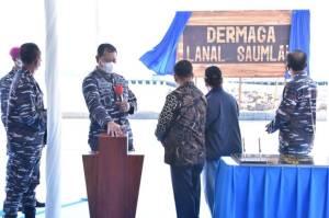 Perkuat Pengamanan ALKI III, KSAL Resmikan Dermaga Lanal Saumlaki