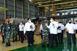 KSAU Tinjau Pembuatan Pesawat CN235, NC212i dan N219 di PTDI