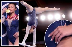Sunisa Lee Sabet Emas Senam Olimpiade Pakai Kuku dan Bulu Mata Palsu