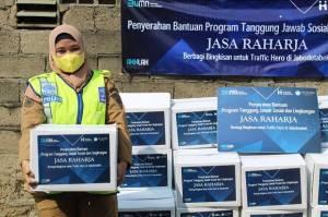 Jasa Raharja dan Human Initiative Salurkan Bantuan untuk Pahlawan Lalulintas