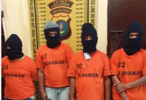 Polres Simalungun Bekuk Komplotan Pencuri Motor yang Kerap Beraksi di Masjid