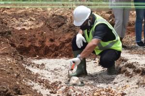 Peletakan Batu Pertama Gudang Non SRG Mankwe Duutne