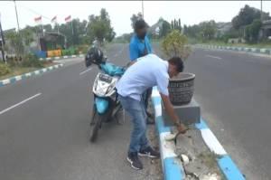 Pencuri Gasak Ratusan Meter Kabel PJU di Dekat Polres Bangkalan Saat Pemadaman Lampu PPKM