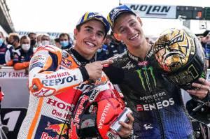 MotoGP 2022 Diprediksi Seru, Marquez Tantang Juara Dunia Baru Fabio Quartararo!