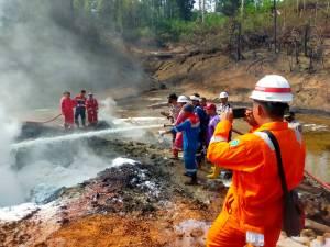 Setelah Terbakar 39 Hari, Sumur Illegal Drilling di Batanghari Berhasil Padam