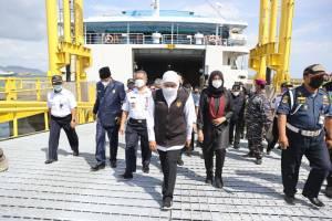 Resmikan Dermaga MB IV Pelabuhan Ketapang, Khofifah: Perkuat Konektivitas Jawa dan Indonesia Timur