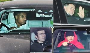 Suasana Latihan Perdana Manchester United Setelah Dibantai Liverpool