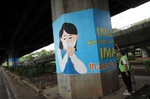 100 Tiang Jalan Tol di DKI Akan Dihiasi dengan Mural Covid-19